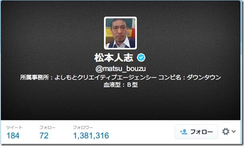 松本人志  matsu_bouzu さんはTwitterを使っています