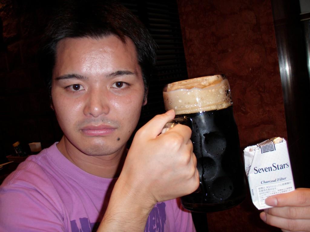 園山恭平 ビール 飲む