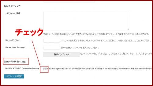 exec-php設定