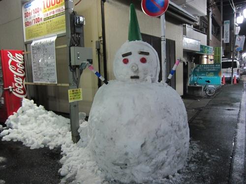 練馬某所雪だるま
