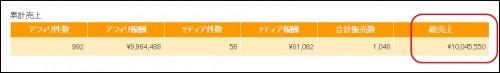 インフォトップ累計1000万円